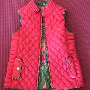 Lilly Pulitzer Lucy vest  flamingo